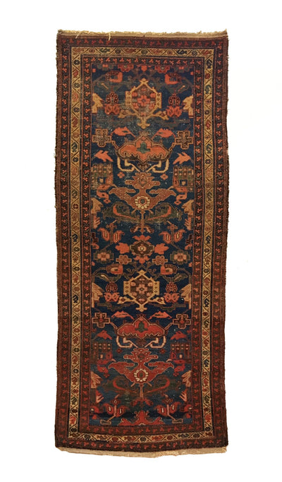 Antique Persian Bakhtiari Long Rug 3'4 x 8'0