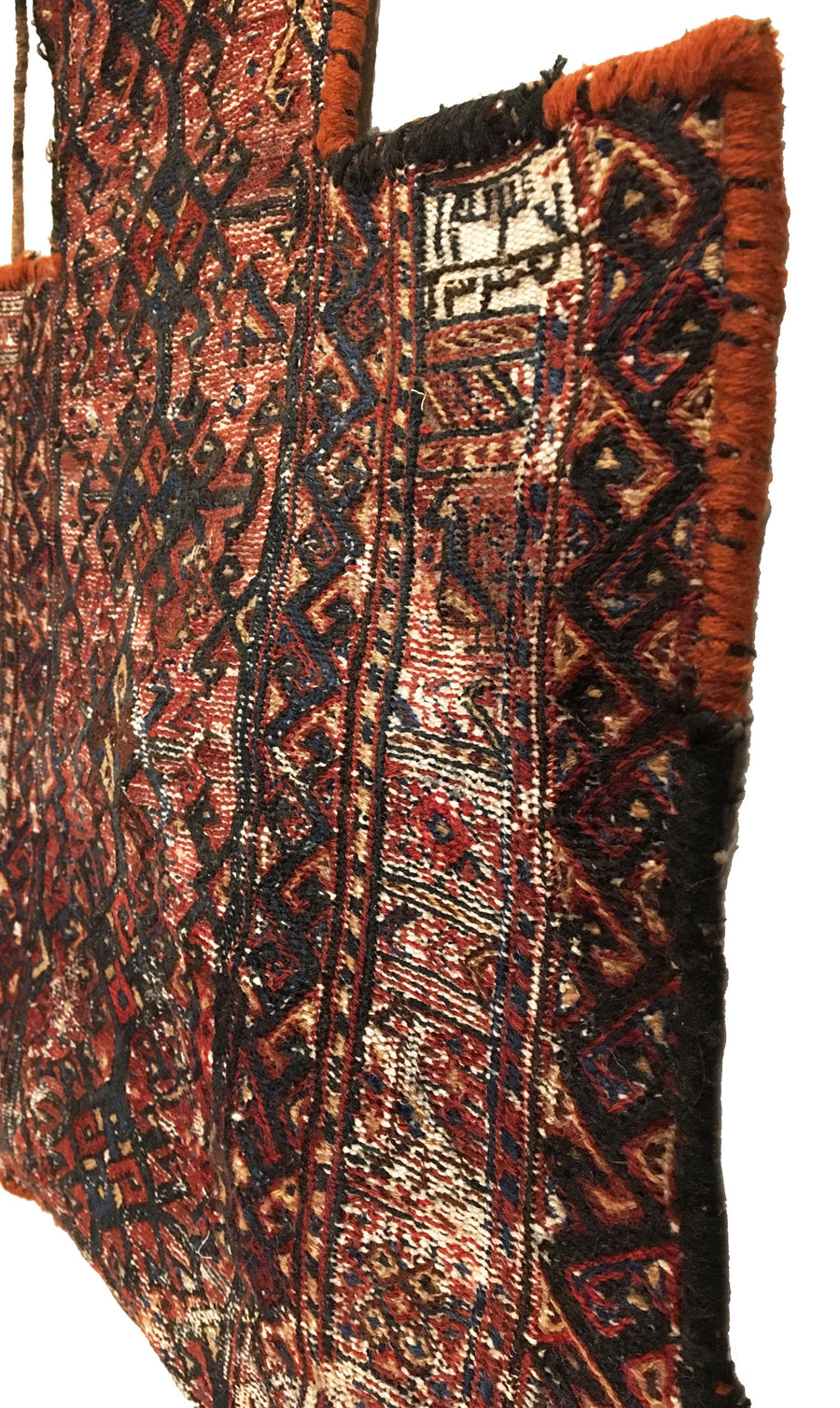 Antique Persian Bakthiari Bag Square Rug 1'5 x 1'6