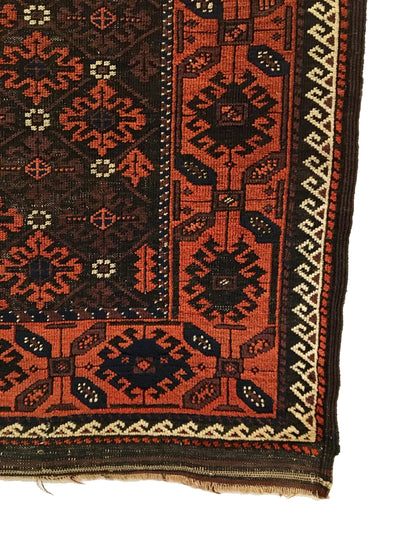 Antique Persian Baluch Rug 3'2 x 5'5