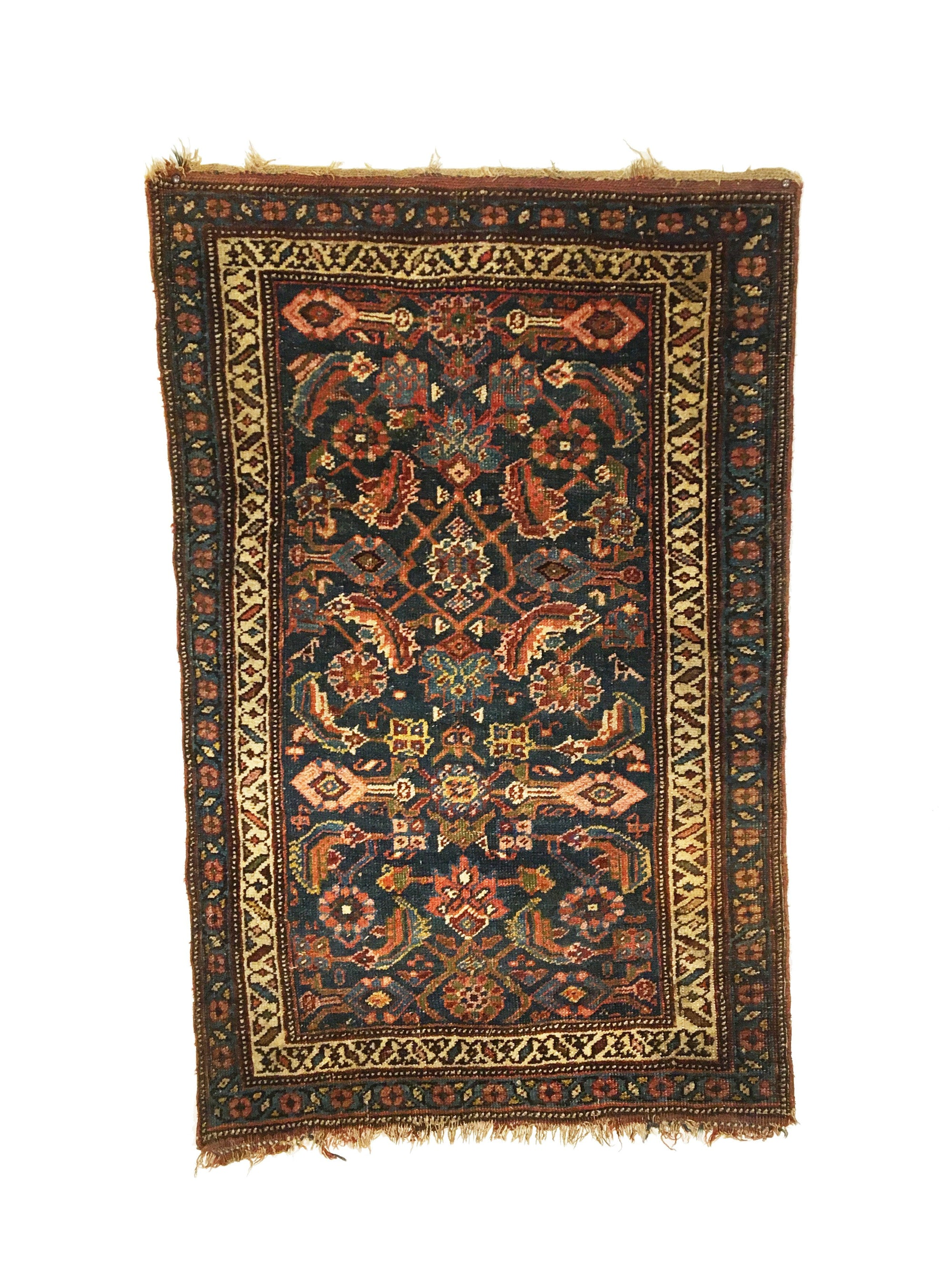 Antique Bidjar Small Rug 2'3 x 3'7