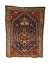 Antique Persian Khamseh Tribal Bird Rug 3'9 x 5'0