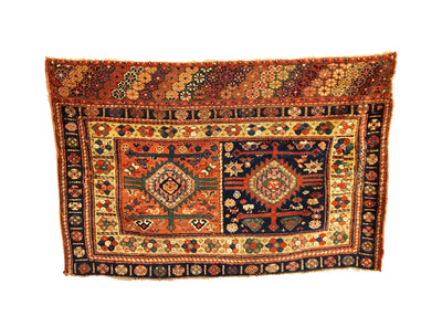 Antique Persian Kurdish Small Rug 2'9 x 4'2