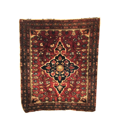 Antique Persian Sarouk Small Rug 2'0 x 2'4