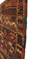 Antique Persian Shahsavan Khorjin Bag Square Rug 0'10 x 2'3