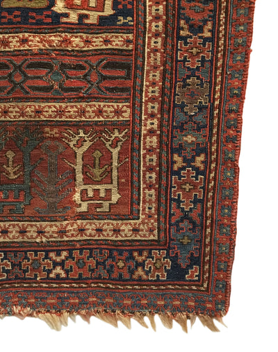 Antique Persian Shahsavan Small Square Rug 1'10 x 1'11