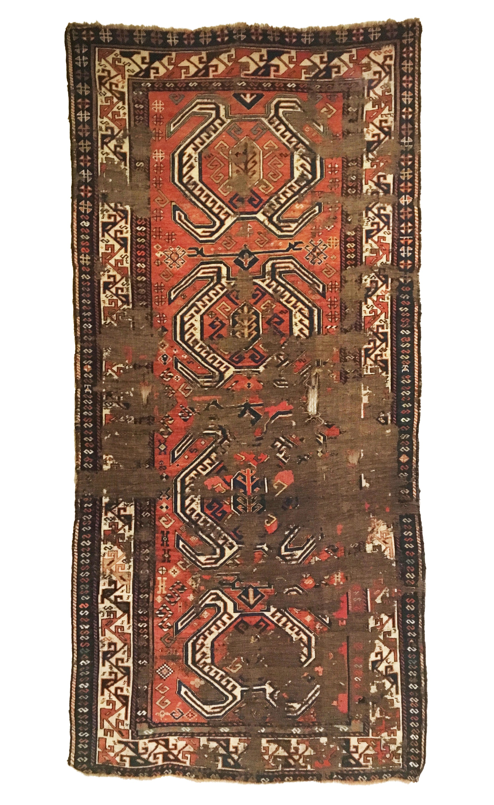 Antique Persian Shahsavan Distressed Long Rug 4'3 x 9'1