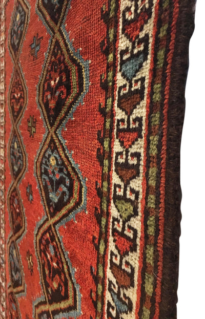 Antique Persian Veramin Tribal Rug 2'9 x 4'7