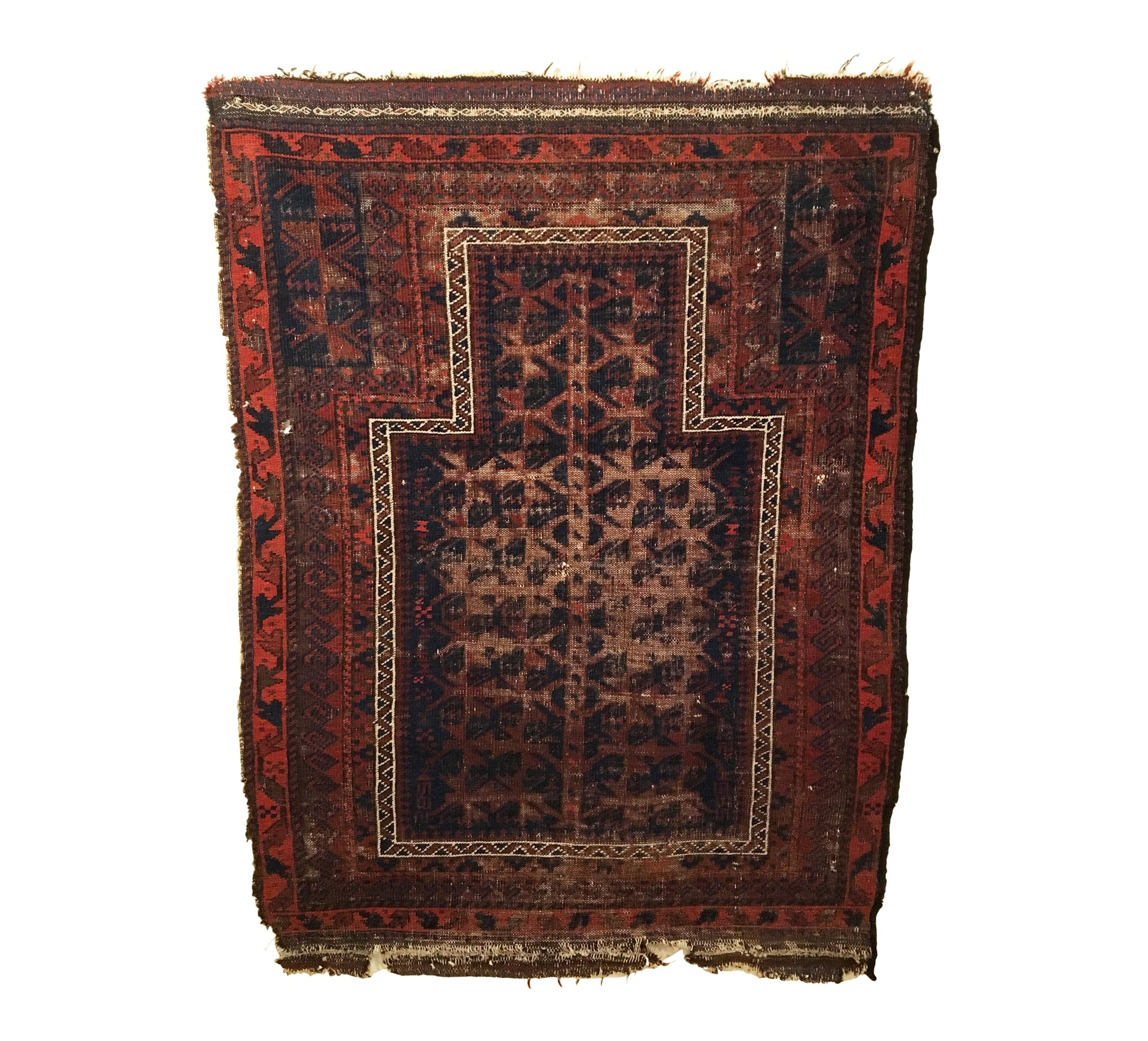 Antique Afghan Baluch Tribal Rug 2'11 x 3'11