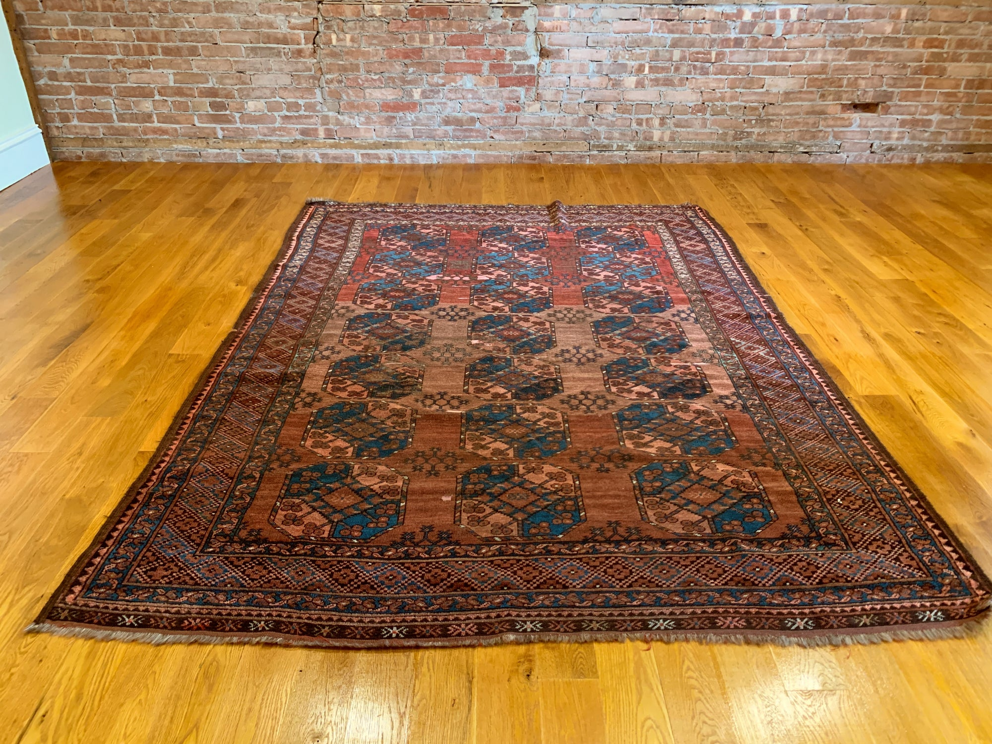 "Antique Ersari Carpet 6'1"" x 8'5"""