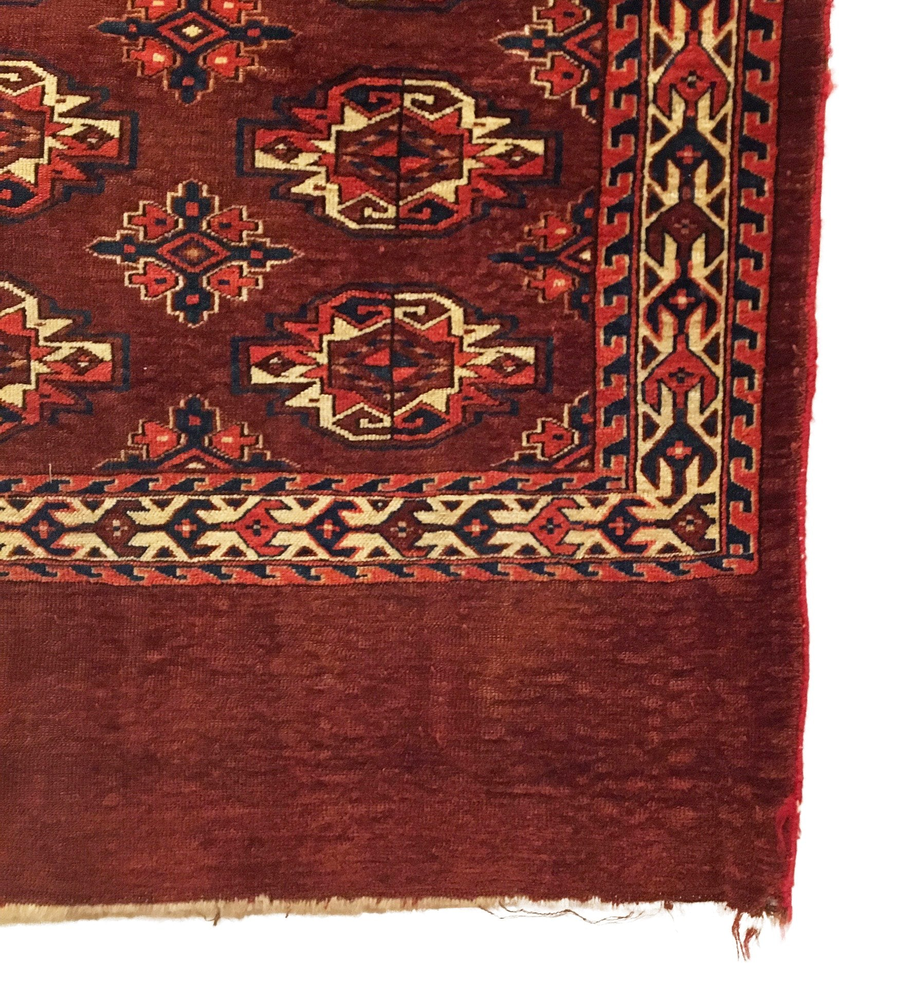 Antique Turkmen Yomud Small Rug 3'7 x 2'10