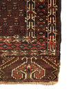 Antique Turkmen Yomud Ensi Rug 4'6 x 5'2