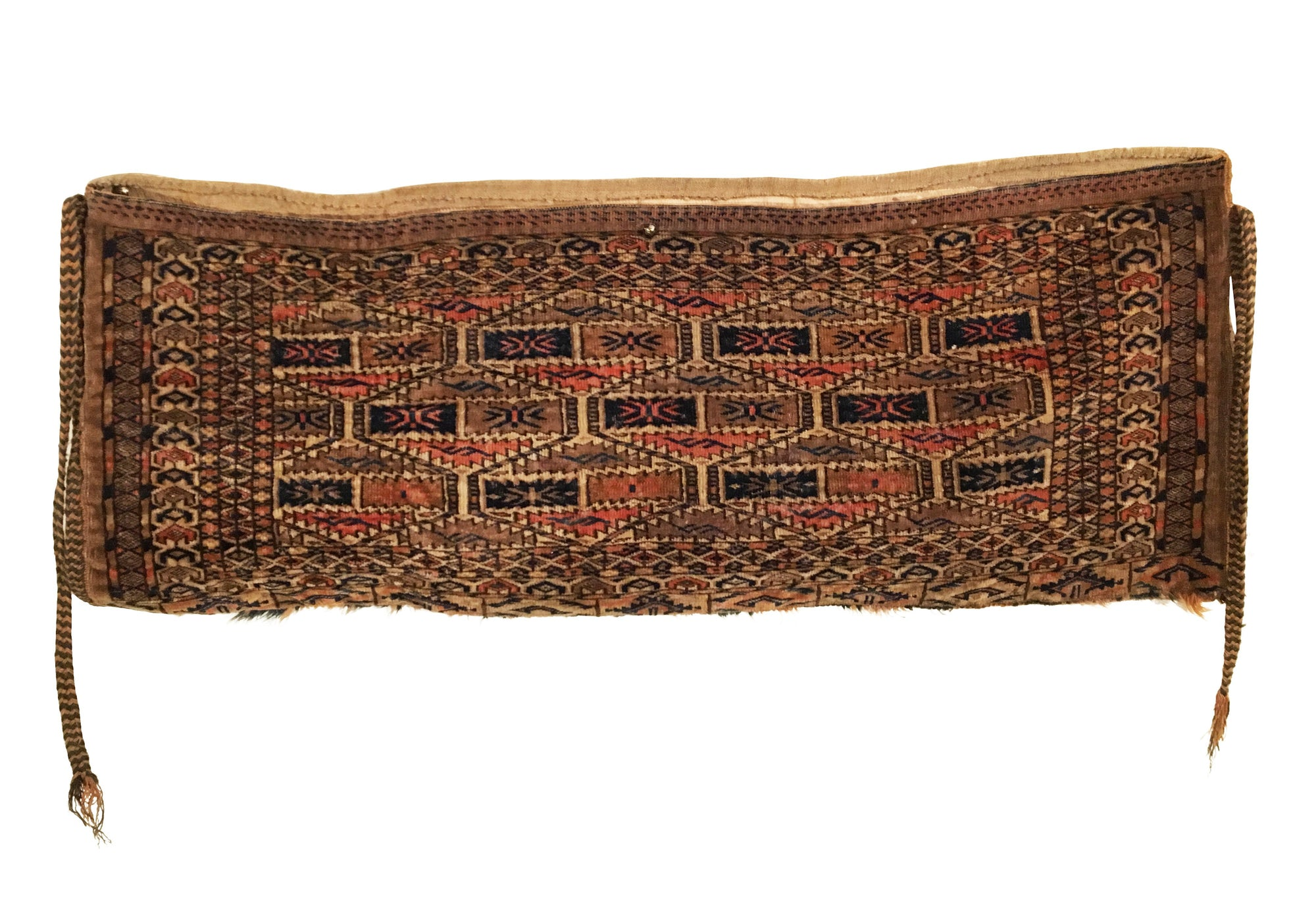 Antique Turkmen Yomud Torba Bag 1'1 x 2'10