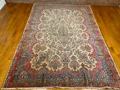 Vintage Persian Kerman Carpet 8'8 x 11'11