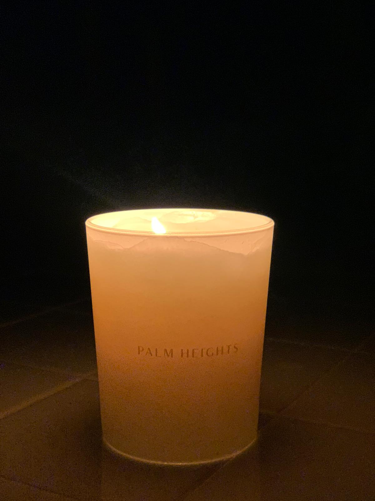 scented candle amber Palm Heights Hotel