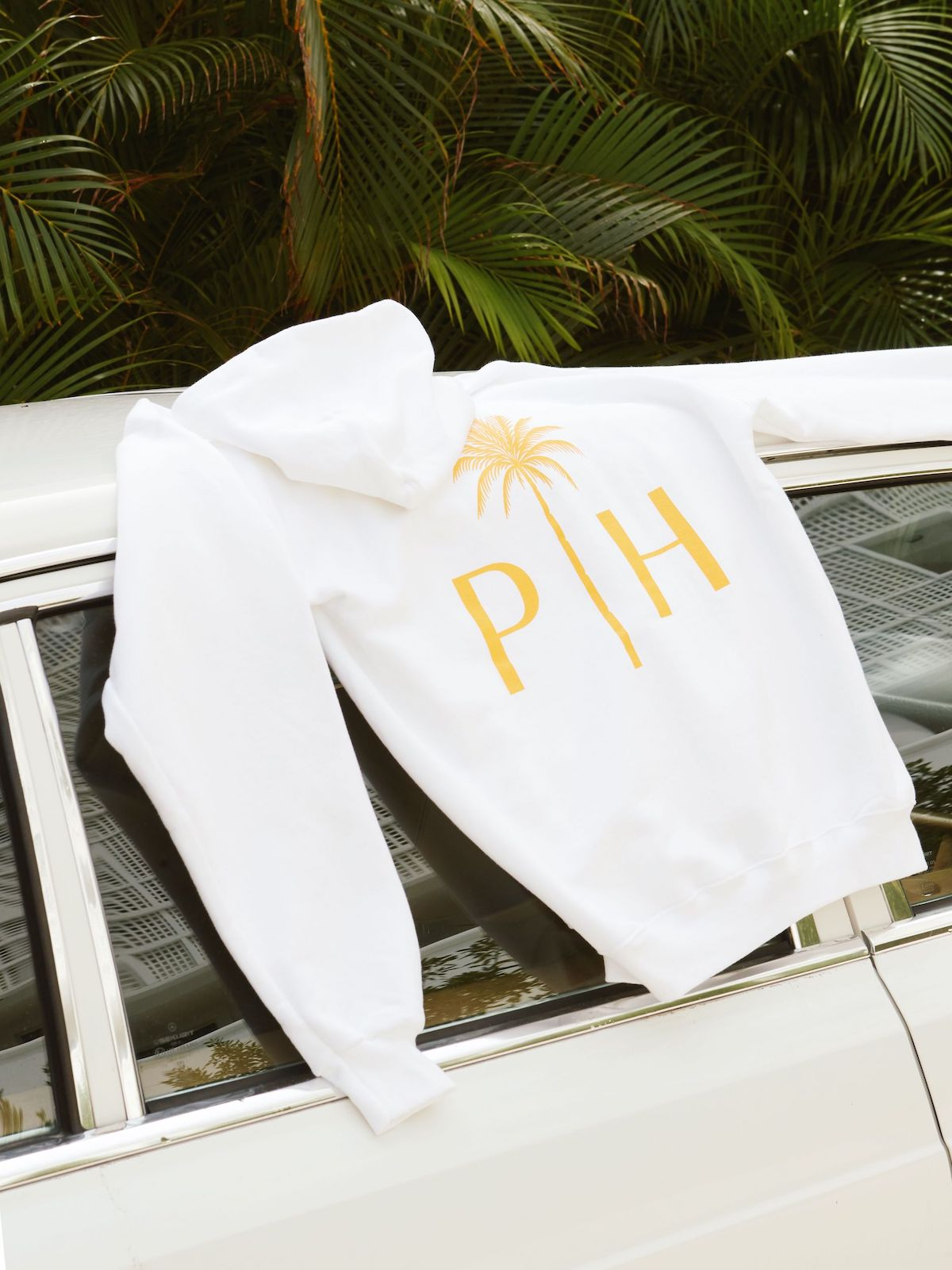 Palm Heights cotton hoodie