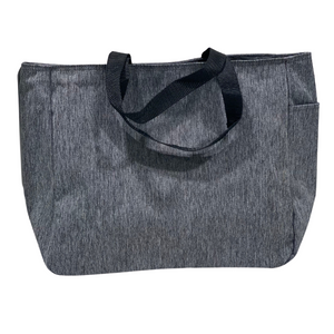 gray tote bag back