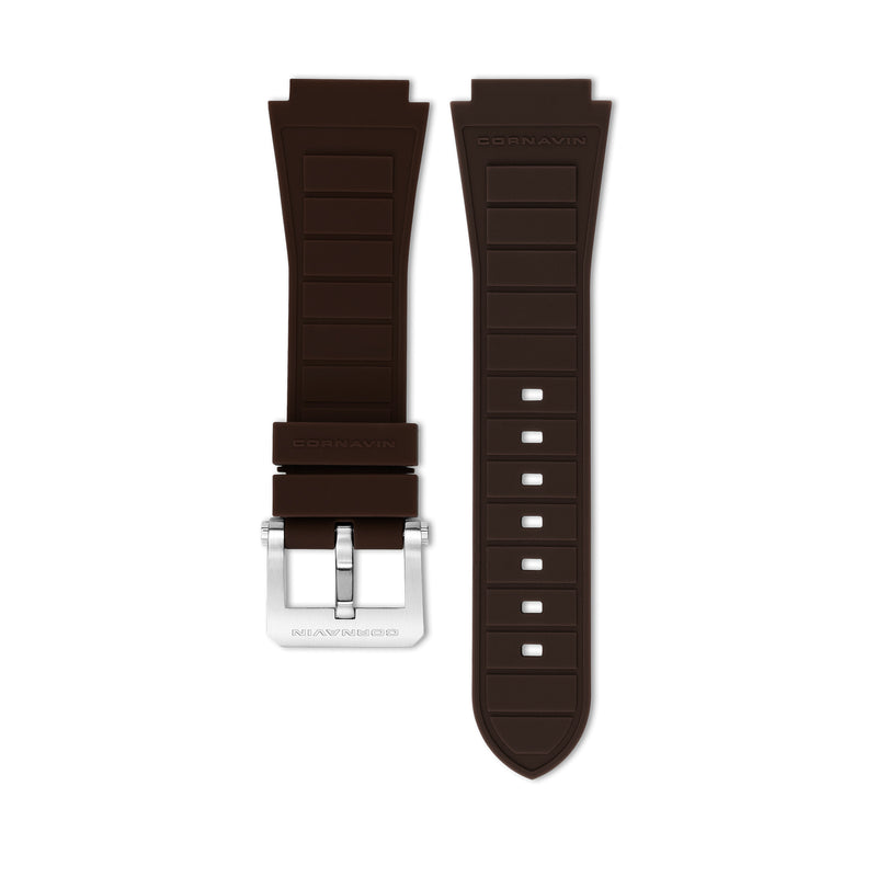 Brown Rubber Strap