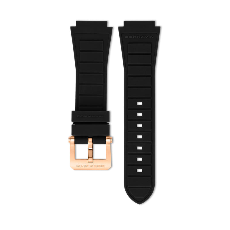 Black Rubber Strap