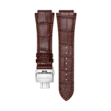 Downtown 3-H Brown Leather Strap