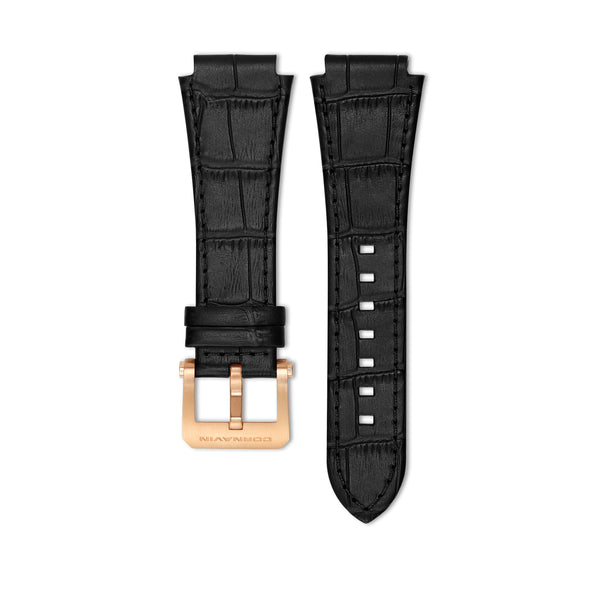 Black Leather Strap with Ardillon Buckle