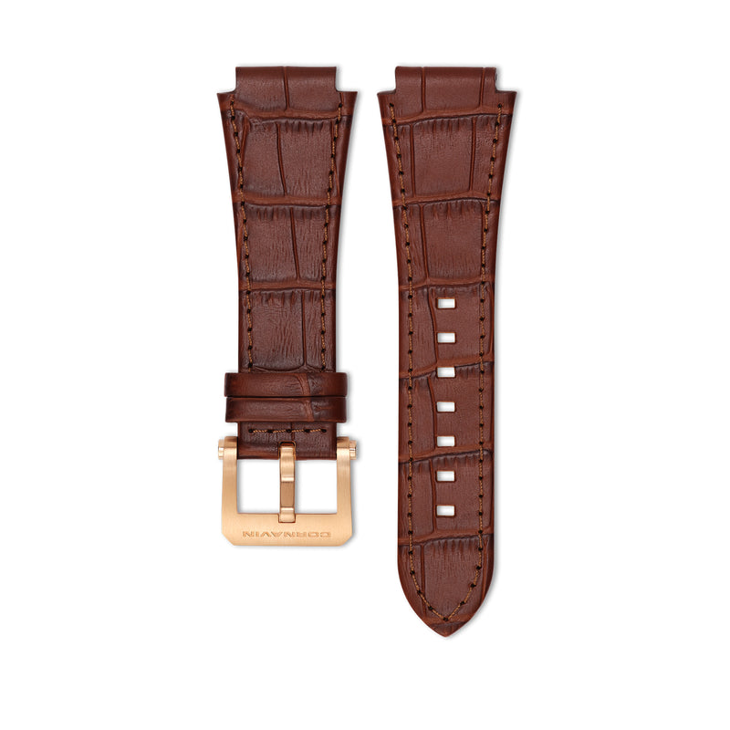 Brown Leather Strap with Ardillon Buckle