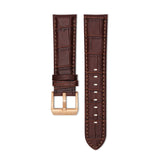 Big Date Brown Leather Strap