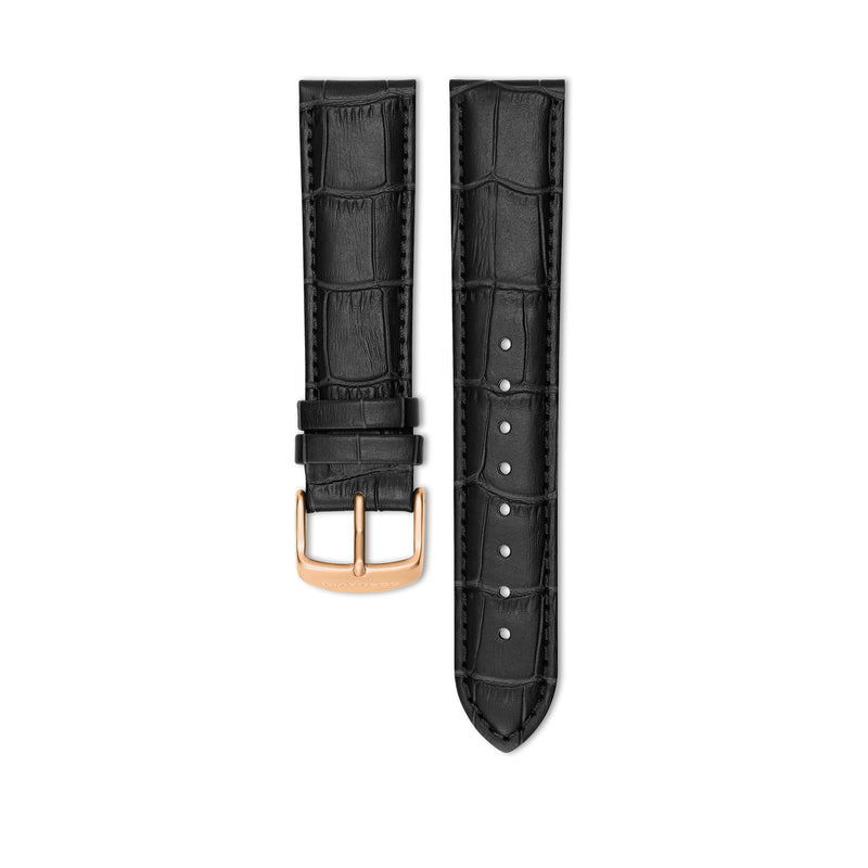 Bellevue Black Leather Strap