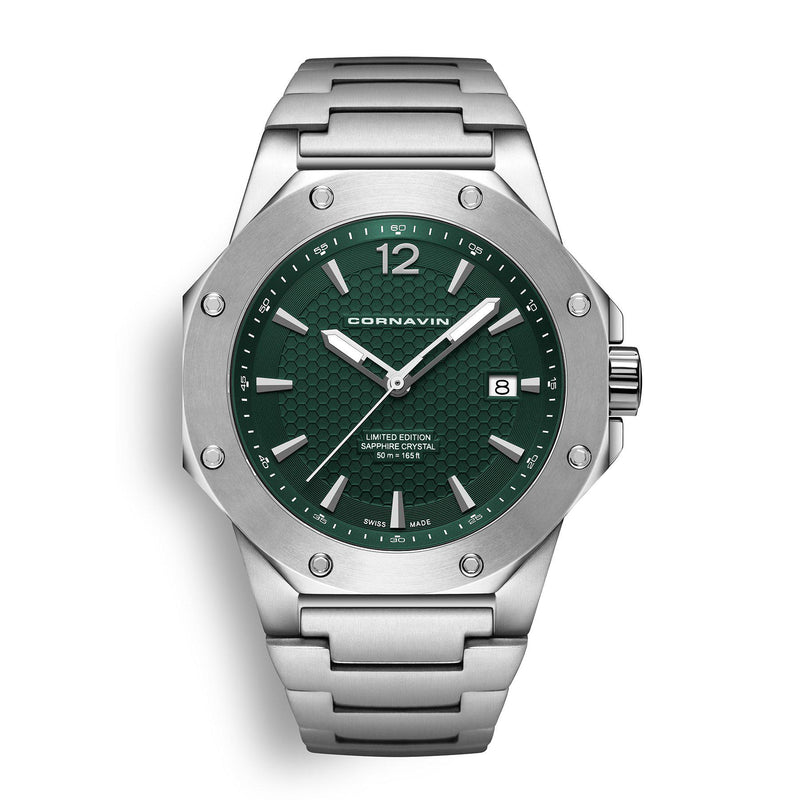 CORNAVIN CO 2021-2027 - Swiss Made Watch with a green dial