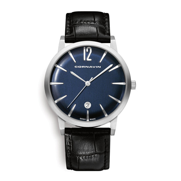 Cornavin Swiss Made Watch Bellevue with a blue dial