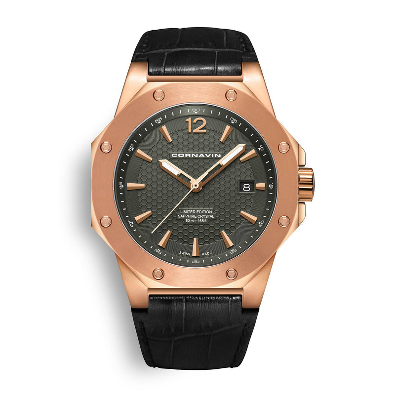 CORNAVIN CO 2021-2025 - Swiss Made Watch with a rose gold PVD case