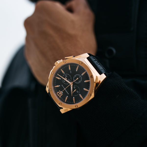 Swiss Made Watch Cornavin Chronograph in Gold