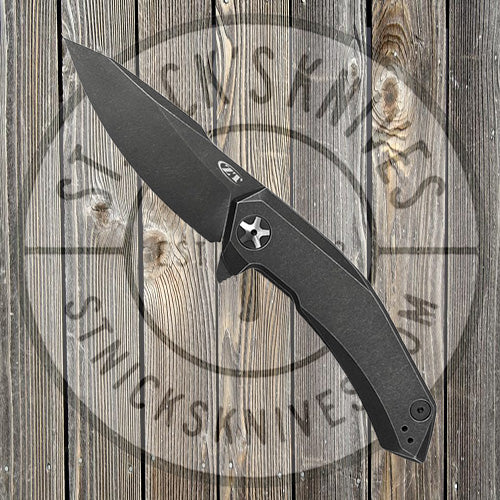 Zero Tolerance - Flipper - Blackwash - Titanium - ZT - 0095BW - CLOSEOUT