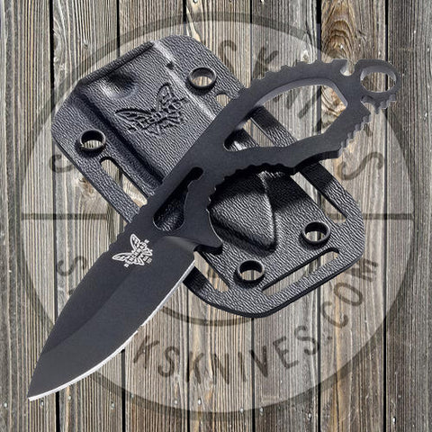 Benchmade - Follow-up - Fixed Blade - Skeleton Neck Knife - Black Coated -101BK