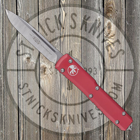 Microtech - Ultratech - Single Edge - Satin Standard - Red - 121-4RD