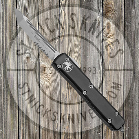 Microtech - Ultratech - T/E - Satin P/S - Black - 123-5