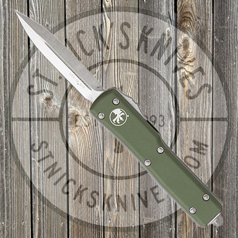Microtech - UTX-70 - D/E - Satin Standard - OD Green Chassis - 147-4OD