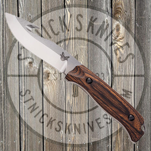 Benchmade - Saddle Mountain - Skinner Knife w/ Gut Hook - Wood - Fixed Blade - 15003-2