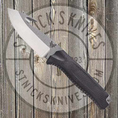Benchmade - Steep Country - Black - Fixed Blade w/ Gut Hook - 15009-BLK