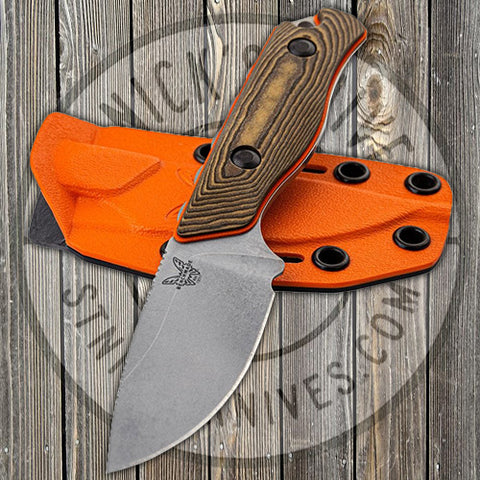 Benchmade - Hidden Canyon - Richlite/Orange G10 Handle - CPM-S90V - Fixed Blade - 15017-1