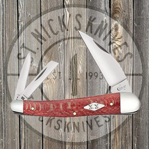 Case - Sea Horse Whittler - Sycamore Wood - Red - 17142