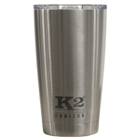 K2 Coolers - Element 18 - Silver - Stainless Steel - Spill-Proof Lid - 18oz - SSS18