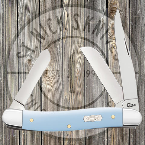 Case - Med Stockman - Ichthus Ice - Blue Synthetic Smooth - 23381