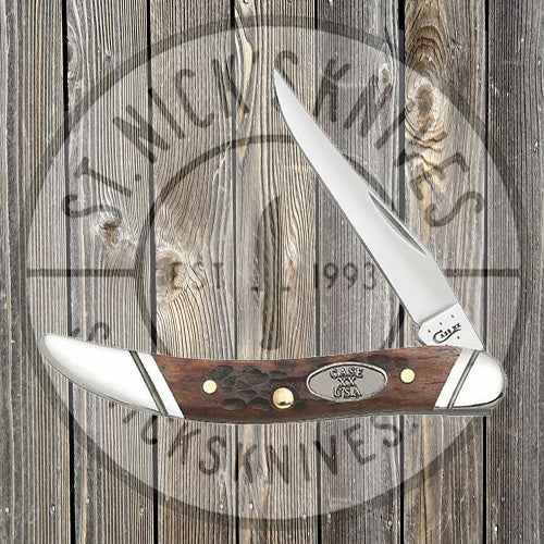 Case - Brown Jigged Bone - Small Texas Toothpick - 27114