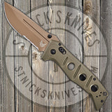 Benchmade - Adamas - Folding Knife - CPM-Cruwear - FDE Serrated Blade - 275SFE-2