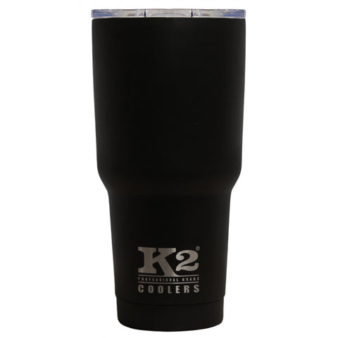 K2 Coolers - Element 30 - Black - Stainless Steel - Spill-Proof Lid - 30oz - SSB30