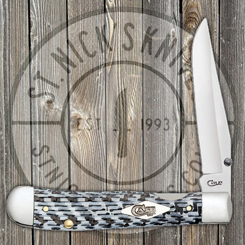 Case - Kickstart - TrapperLock - White & Black Carbon Fiber/G10 Weave - 38921