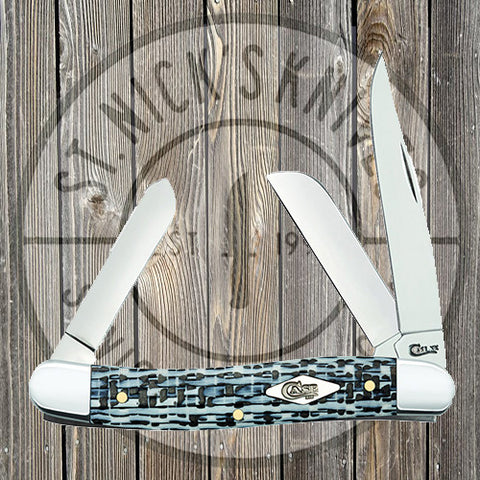 Case - Medium Stockman - Smooth White & Black Carbon Fiber/G10 Weave - 38923