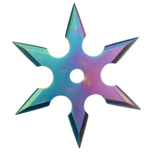 3 inch Throwing Star - 6 Point - Rainbow - 90-16C16719 - St. Nick's Knives