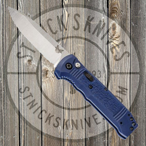 Benchmade - Casbah - Automatic - Blue Grivory - Plain Edge - 4400-1
