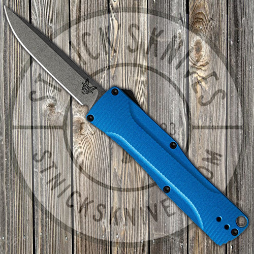 Benchmade - Om - D/A OTF - Automatic - Blue Handle - CPM-S30V - 4850-1